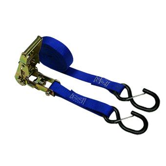 "1"" x 12' Straps with Coated S Hook + Keeper"