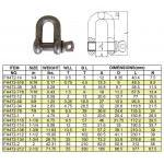 High Strength Screw Pin Dee Shackle 40G